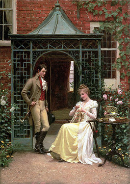 'On the Threshold' by Edmund Blair Leighton, 1900